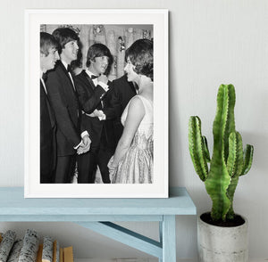 The Beatles meet Princess Margaret Framed Print - Canvas Art Rocks - 5