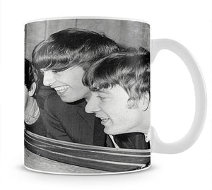The Beatles play with toy racing cars Mug - Canvas Art Rocks - 1