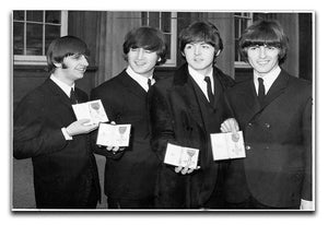 The Beatles show their MBEs Canvas Print or Poster  - Canvas Art Rocks - 1