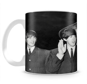 The Beatles with Brian Epstein at London Airport Mug - Canvas Art Rocks - 2