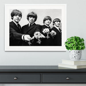 The Beatles with their MBEs Framed Print - Canvas Art Rocks - 5
