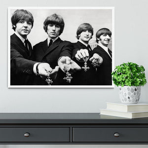 The Beatles with their MBEs Framed Print - Canvas Art Rocks -6