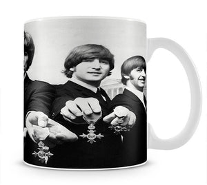 The Beatles with their MBEs Mug - Canvas Art Rocks - 1