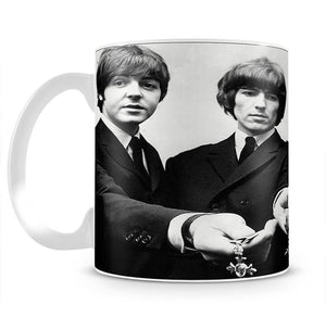 The Beatles with their MBEs Mug - Canvas Art Rocks - 2