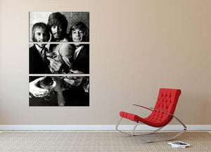 The Bee Gees 3 Split Panel Canvas Print - Canvas Art Rocks - 2