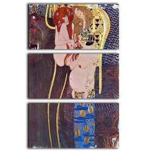 The Beethoven Freize 2 by Klimt 3 Split Panel Canvas Print - Canvas Art Rocks - 1
