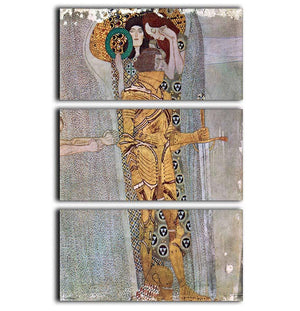 The Beethoven Freize by Klimt 3 Split Panel Canvas Print - Canvas Art Rocks - 1