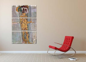 The Beethoven Freize by Klimt 3 Split Panel Canvas Print - Canvas Art Rocks - 2