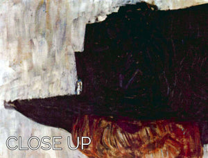 The Black Hat by Klimt 3 Split Panel Canvas Print - Canvas Art Rocks - 3