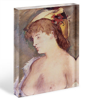 The Blond Nude by Manet Acrylic Block - Canvas Art Rocks - 1