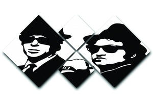 The Blues Brothers 4 Square Multi Panel Canvas  - Canvas Art Rocks - 1