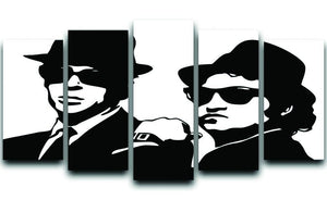 The Blues Brothers 5 Split Panel Canvas  - Canvas Art Rocks - 1
