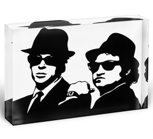 The Blues Brothers Acrylic Block - Canvas Art Rocks - 1