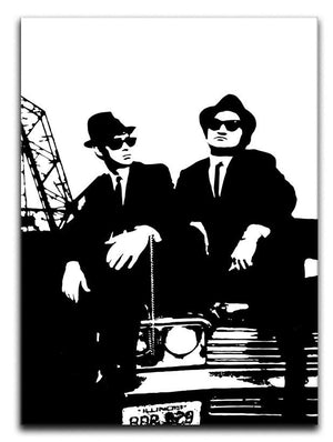 The Blues Brothers Car Canvas Print & Poster - Canvas Art Rocks