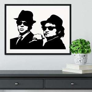 The Blues Brothers Framed Print - Canvas Art Rocks - 1
