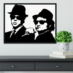 The Blues Brothers Framed Print - Canvas Art Rocks - 2