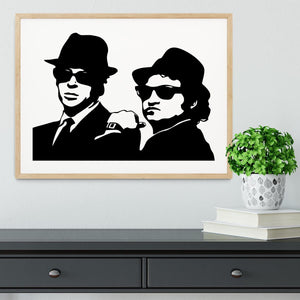 The Blues Brothers Framed Print - Canvas Art Rocks - 3