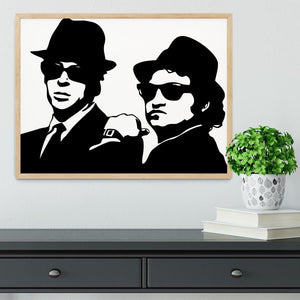 The Blues Brothers Framed Print - Canvas Art Rocks - 4