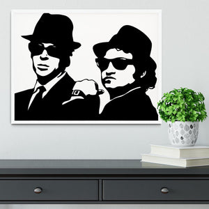 The Blues Brothers Framed Print - Canvas Art Rocks -6