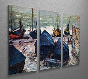 The Boats by Monet Split Panel Canvas Print - Canvas Art Rocks - 4
