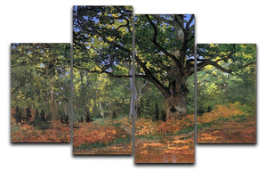 The Bodmer oak Fontainbleau forest by Monet 4 Split Panel Canvas  - Canvas Art Rocks - 1