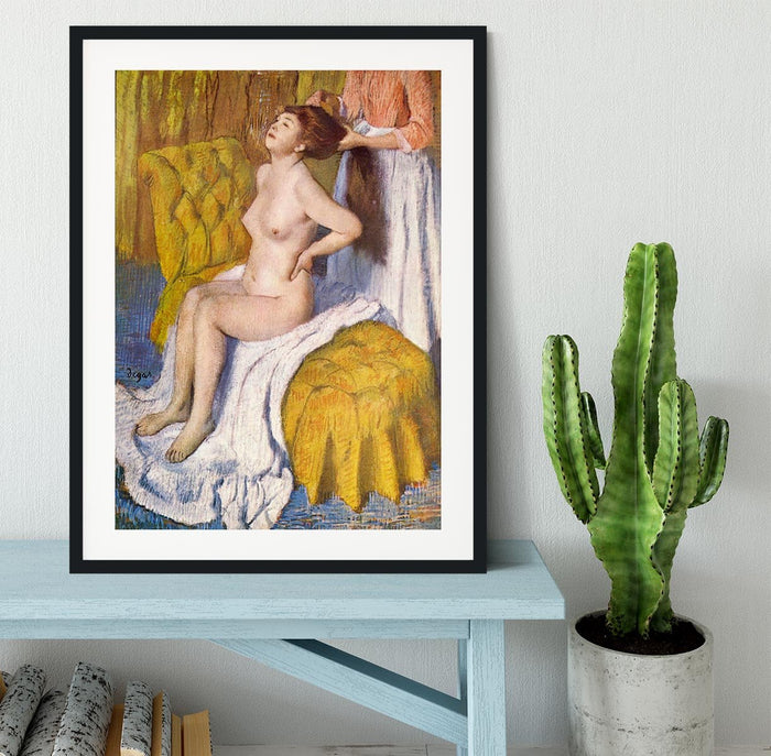 The Body Care by Degas Framed Print