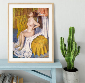 The Body Care by Degas Framed Print - Canvas Art Rocks - 3
