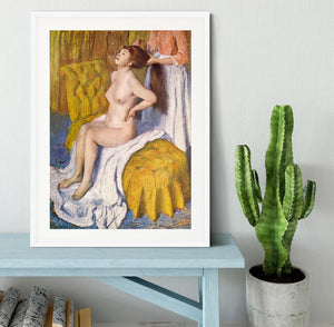 The Body Care by Degas Framed Print - Canvas Art Rocks - 5