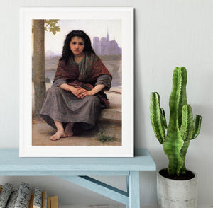 The Bohemian By Bouguereau Framed Print - Canvas Art Rocks - 5