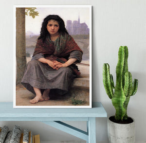 The Bohemian By Bouguereau Framed Print - Canvas Art Rocks -6