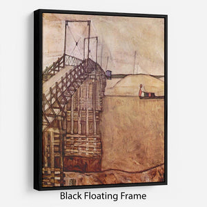 The Bridge by Egon Schiele Floating Frame Canvas - Canvas Art Rocks - 1