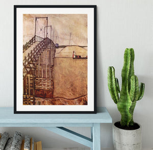 The Bridge by Egon Schiele Framed Print - Canvas Art Rocks - 1