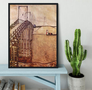 The Bridge by Egon Schiele Framed Print - Canvas Art Rocks - 2