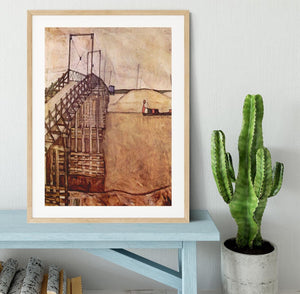 The Bridge by Egon Schiele Framed Print - Canvas Art Rocks - 3