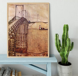 The Bridge by Egon Schiele Framed Print - Canvas Art Rocks - 4
