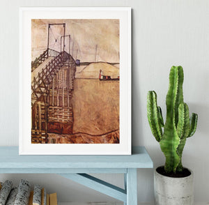 The Bridge by Egon Schiele Framed Print - Canvas Art Rocks - 5