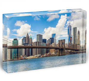 The Brooklyn Bridge Acrylic Block - Canvas Art Rocks - 1