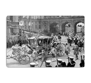 The Coronation of King George VI Kings coach HD Metal Print