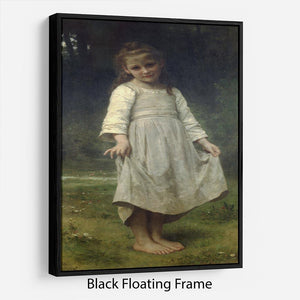 The Curtsey By Bouguereau Floating Frame Canvas