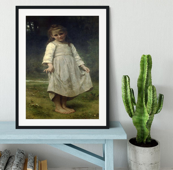 The Curtsey By Bouguereau Framed Print