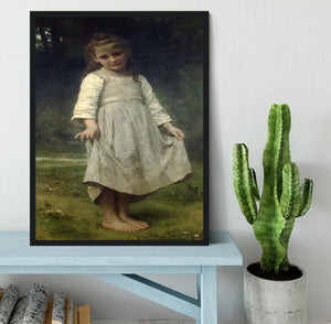 The Curtsey By Bouguereau Framed Print - Canvas Art Rocks - 2
