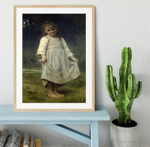 The Curtsey By Bouguereau Framed Print - Canvas Art Rocks - 3
