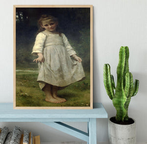 The Curtsey By Bouguereau Framed Print - Canvas Art Rocks - 4