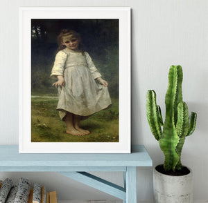The Curtsey By Bouguereau Framed Print - Canvas Art Rocks - 5
