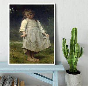 The Curtsey By Bouguereau Framed Print - Canvas Art Rocks -6