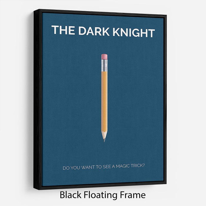The Dark Knight Minimal Movie Floating Frame Canvas