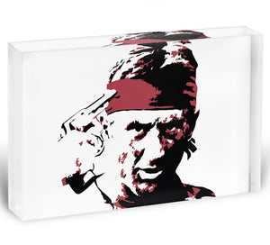 The Deer Hunter Acrylic Block - Canvas Art Rocks - 1
