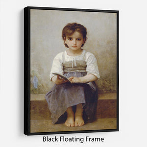 The Difficult Lesson By Bouguereau Floating Frame Canvas