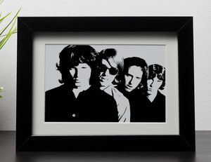The Doors Framed Print - Canvas Art Rocks - 1