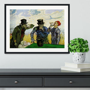 The Drinkers by Van Gogh Framed Print - Canvas Art Rocks - 1